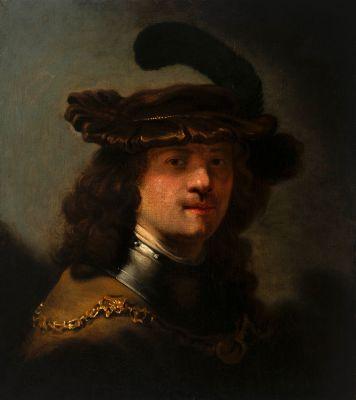 """""""Autorretrato, Rembrandt"""" Escuela holandesa del siglo XVII. Círculo de REMBRANDT"""