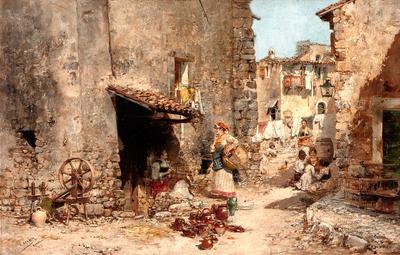 """""""Calle de Subiaco"""", Roma.  VICENTE MARCH Y MARCO"""