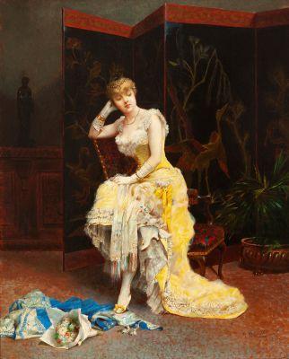 """Dama sentada"", 1881.  FRANCISCO MASRIERA MANOVENS"