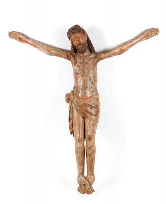 """Cristo crucificado"" Escuela castellana del siglo XIV."