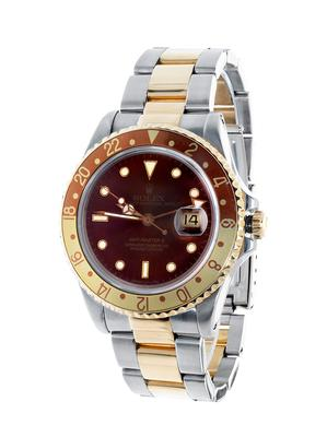 Rolex GMT Master II Root Beer, year 1991, model 16713, number 63319X. Caliber 3185, No.