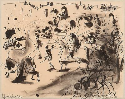 PABLO PICASSO (Málaga, 1881 - Mougins, France, 1973).Untitled, Vallauris, March 3, 1951.