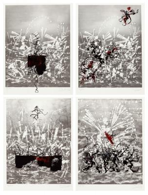 JOSE BENÍTEZ MONTILLA (Antequera, Málaga, 1963).Folder with 4 engravings.