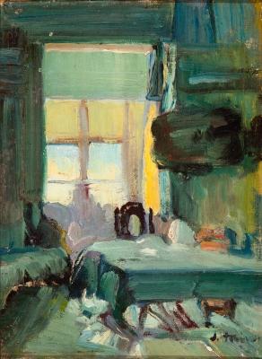 "JOAQUIN MIR TRINXET (Barcelona, 1873 – 1940).""Interior""."