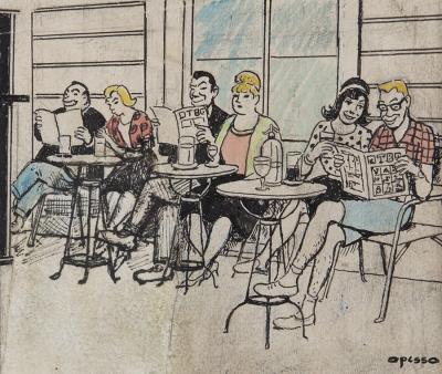 """""""Café"""". OPISSO I SALA, Ricardo"""