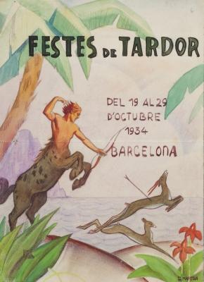 Joaquim Martra Ballbé . Dibujo original para el carte