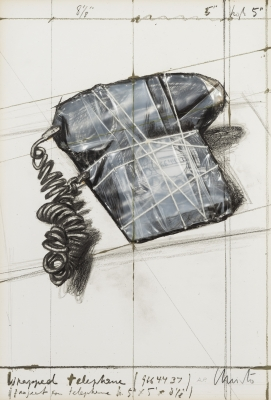 """""""Wrapped telephone. Project for telephone"""" Christo"""