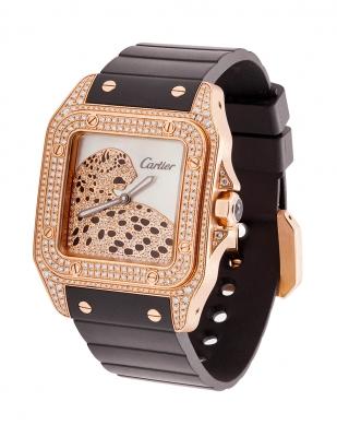 Reloj CARTIER Santos 100. Caja cuadrada en oro rosa de 18 kts