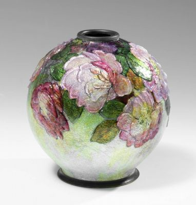 CAMILLE FAURÉ (Perigueux, 1874 - Limoges ?, 1956).Enameled vase.