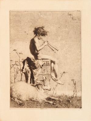 """""""Idylle"""", Roma, 1865. FORTUNY MARSAL, Mariano"""