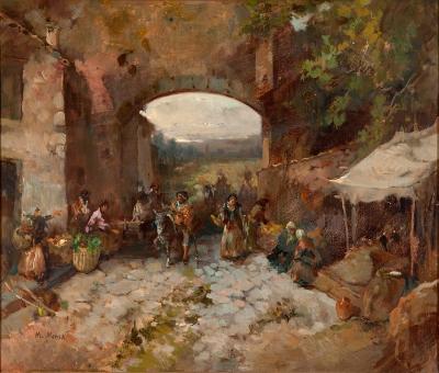 """""""El puente de los gitanos"""". MENSA I SALAS, Manuel"""