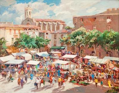 """""""Mercado"""", 1960. VILÀ CAÑELLAS, José María"""