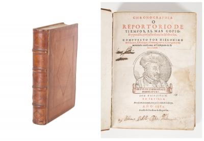 """Chronographia o Repetorio de tiempos"" CHAVES, Jerónimo de"