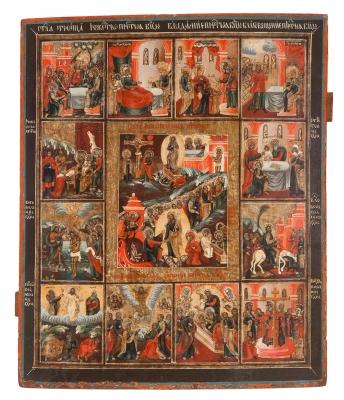 Icono ruso o griego, finales del siglo XVIII – principios del XIX.