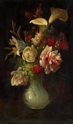 """Jarrón con flores"". MARTÍ AGUILÓ, Ricardo"