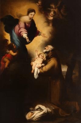 """""""San Félix Cantalicio con la Virgen y el Niño"""" Copia de"""