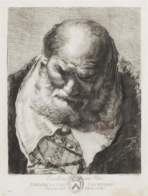 """""""Retrato de Frederico Savorgnano"""" Giovanni Battista Tiépolo"""