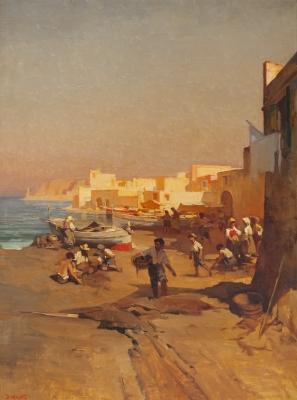 """""""Pueblo de pescadores"""". Dario Mecatti"""