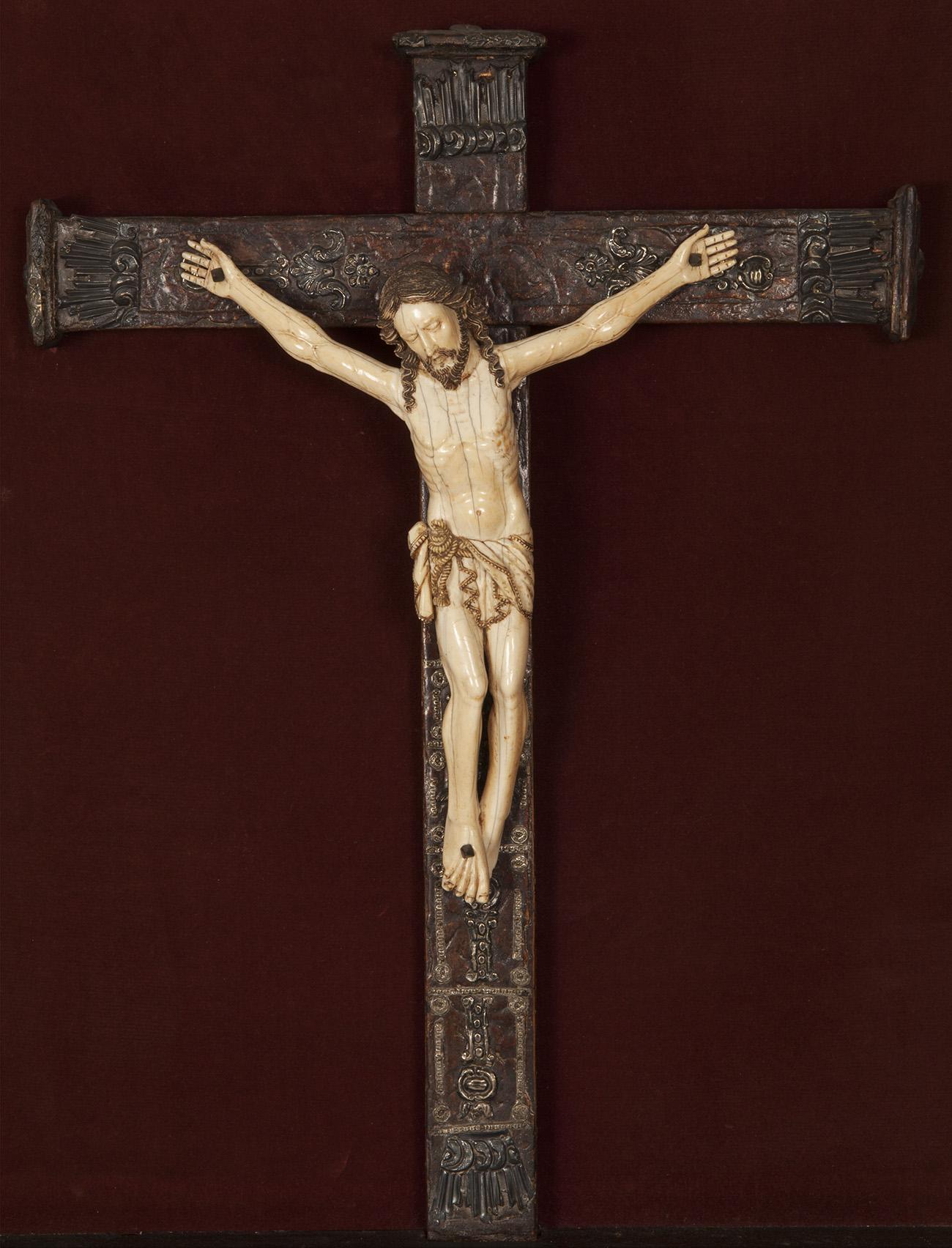 Cristo crucificado indo-portugués, siglo XVII.