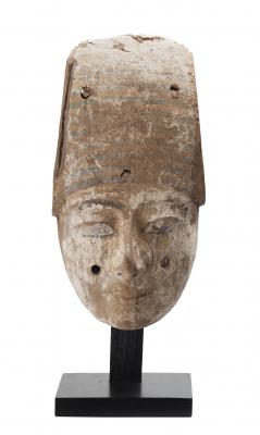 Máscara de sarcófago; Egipto, Baja Época, 664-323 a.