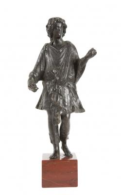 Figura de dios de larario; Imperio Romano, siglos I-III d.