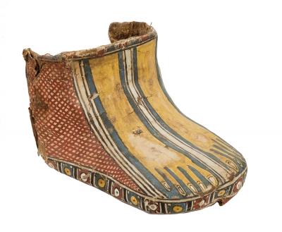 Cobertura para los pies de una momia; Egipto, finales d