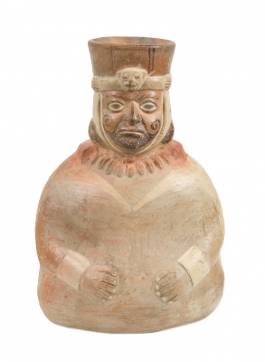 Huaco de la cultura Moche; Perú, 200-550 d. C