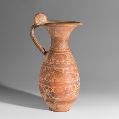 Olpe etruso-corintio, siglo VI a. C