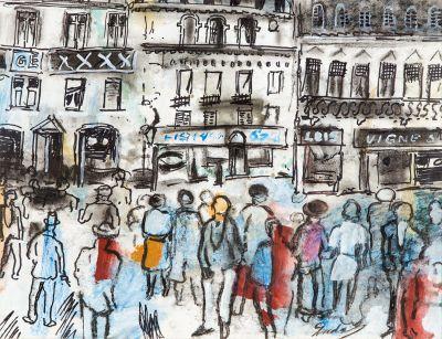 CARLES NADAL FERRERAS (París, 1917 – Sitges, 1998). Sin título.