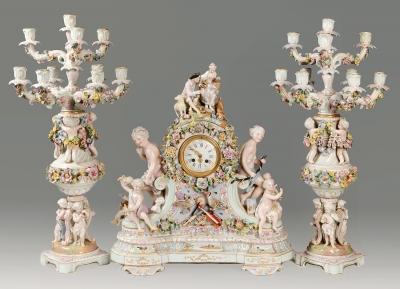 Guarnición de la MANUFACTURA DE MEISSEN; Alemania, siglo XIX.