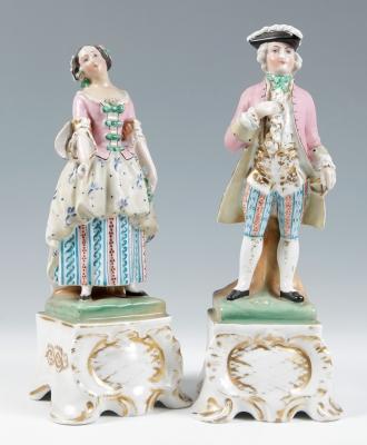 """""""Dama"""" Pareja de figuras del VIEJO PARÍS; Francia, hacia 1830."""