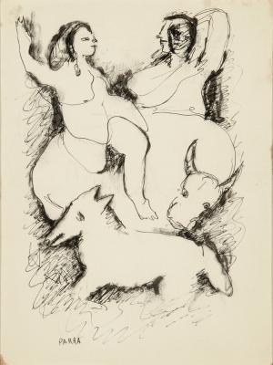 """""""Couple dansant et animaux"""". PARRA, Ginés"""