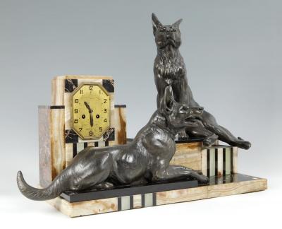 Reloj Art Déco; Francia, hacia 1928.