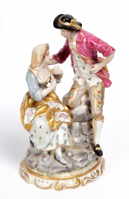 Figurilla SITZENDORF; Alemania, finales del siglo XIX –
