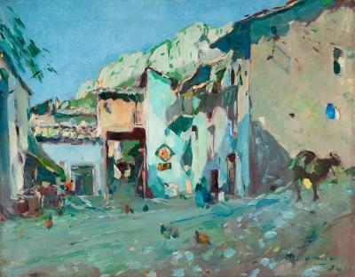 """""""Plaza del Raval. Coll de Nargó"""" JOAQUIM MIR TRINXET"""