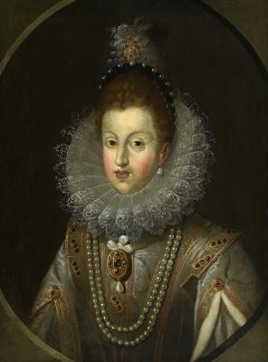 """Retrato de Margarita de Austria"" osiblemente GONZÁLEZ"