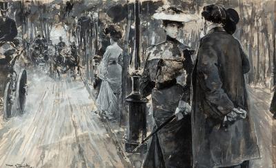"Lote: 35143018Arcadi Mas i Fondevila (Barcelona, 1852 – Sitges, 1934).""Valentina""."
