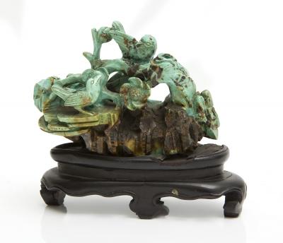 Talla china años 40-50. Turquesa
