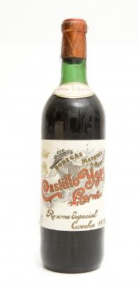 Botella de Marqués de Murrieta Castillo Ygay Reserva Especial 1925.