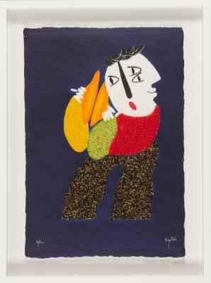 """Hombre con platillos"". Joan Ripollés"