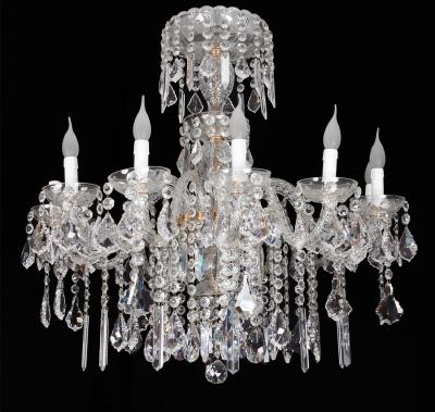 Lámpara de cristal de Bohemia, moderna.