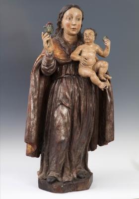 Virgen de la Rosa con el Niño. Escuela del s.