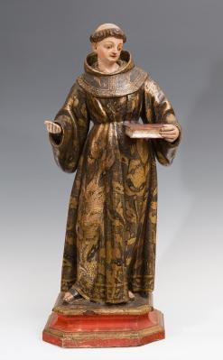 """""""San Antonio de Padua"""" Escuela española, siglo XVIII."""