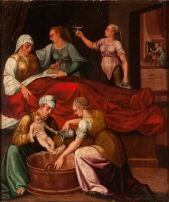 """""""El nacimiento de la Virgen"""" Escuela castellana, segund"""