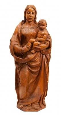 """""""Virgen con el Niño"""" Escuela española, finales del siglo XVI."""