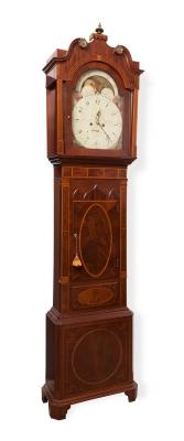 Reloj de pie. Inglaterra, siglo XIX.