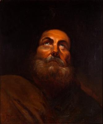 """Apóstol"".  Escuela española, siglo XIX."