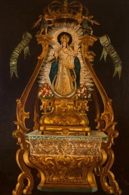"""""""Nuestra Señora de los Remedios"""" Escuela española, siglo XIX."""