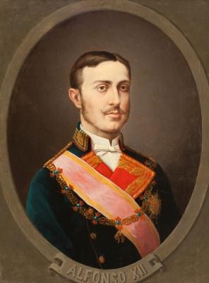 """Retrato de Alfonso XII"" Escuela española, siglo XIX."