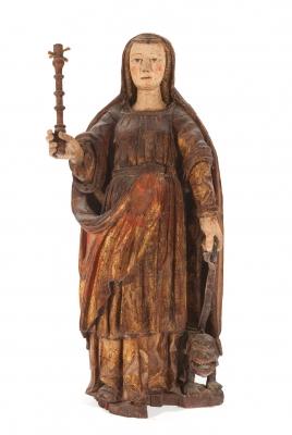 """Santa Quiteria"".  Escuela española, siglo XVII."